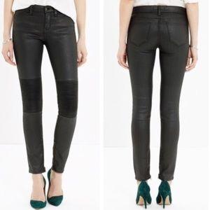 Madewell Skinny Skinny Zip Racetrack Jeans Black